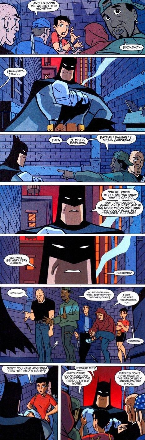 Batman Has NO Idea How to Hold a Baby