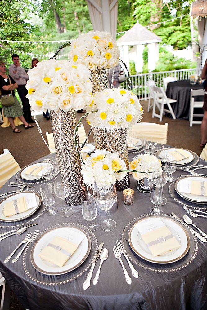 silver wedding table decorations 81 best images about weddings gray silver on 7468