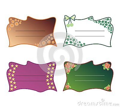 Set of #decorative #text #frames with #roses, #leaves, #stars, #flowers and #bow