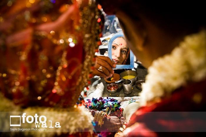 The mirror #Marathi Wedding #Bride #Groom