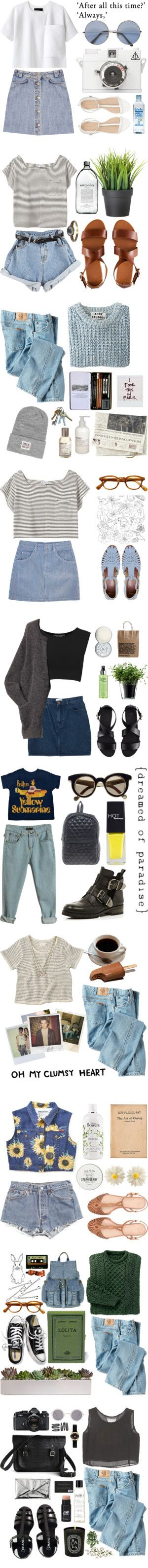 """Blue Jeaned baby, LA Lady"" by natalieoffduty ❤ liked on Polyvore"