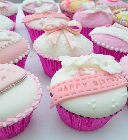Birthday Cupcakes with Toffee Butercream