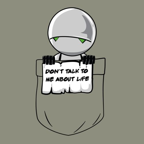 t-shirt H2G2 | t-shirt marvin | t shirt Guide to the Galaxy | geek