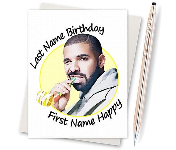 Drake Birthday Card. Funny Birthday Card. by InLivingColorStudios