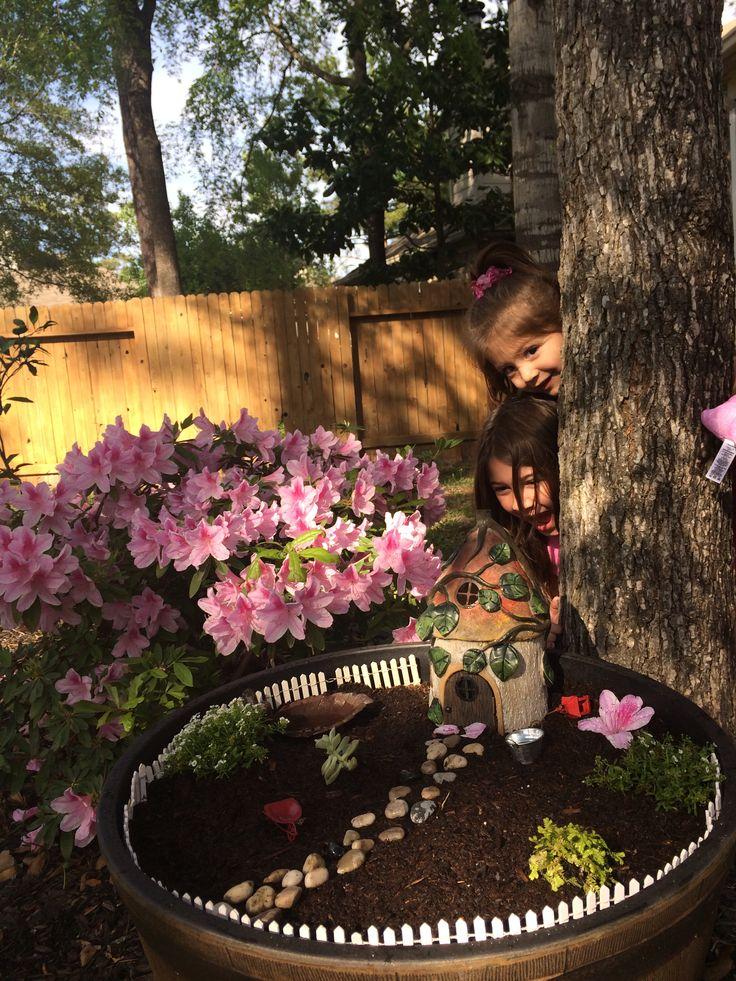 Fairy Garden Use Silk Flowers Large Rocks Sink Plastic