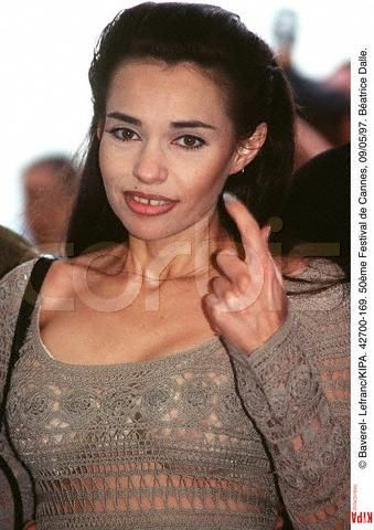 Béatrice Dalle in awsome dress, Cannes 1997.