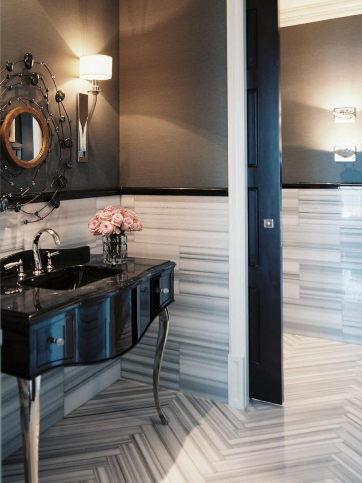 Best Small Master Bath With COLOR Images On Pinterest Small - Patterned bathroom rugs for bathroom decorating ideas
