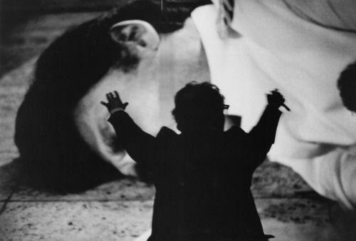 Gilles Peress, Jean-Luc Godard, Cannes, 1985