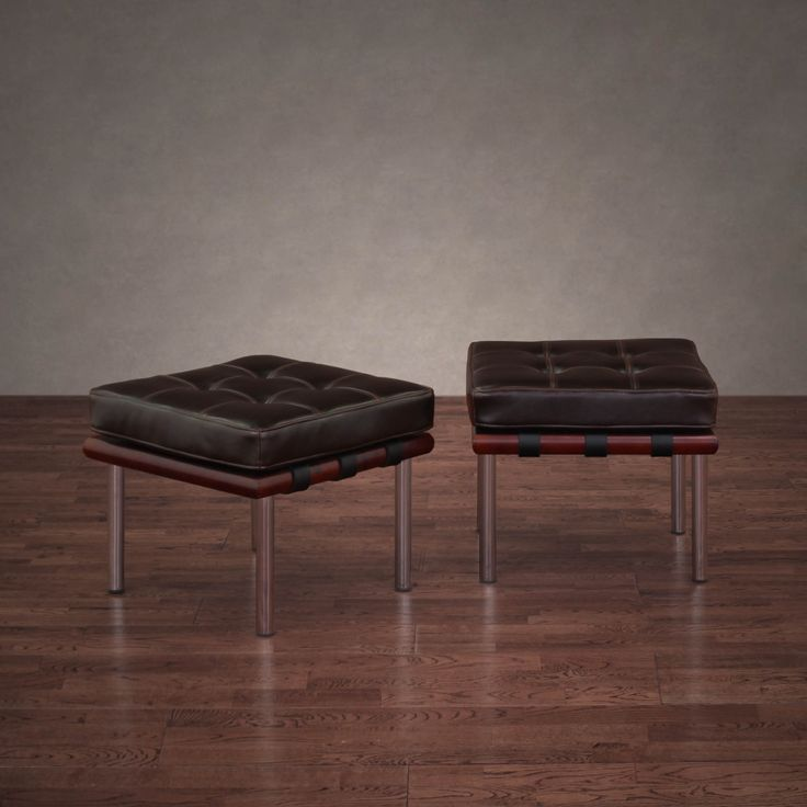 this set of two leather ottomans looks great in any home or office