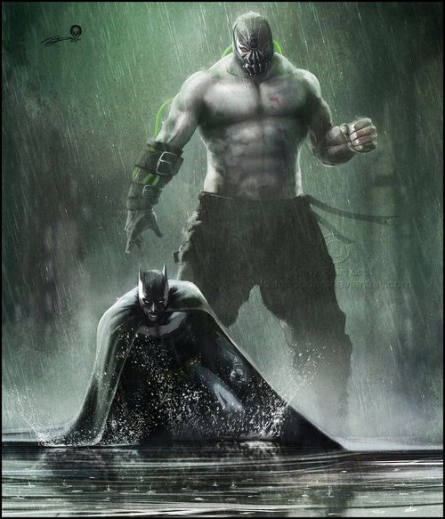 Batman vs Bane | this is how it's suppose to look - not Nolan's crap version in the movie