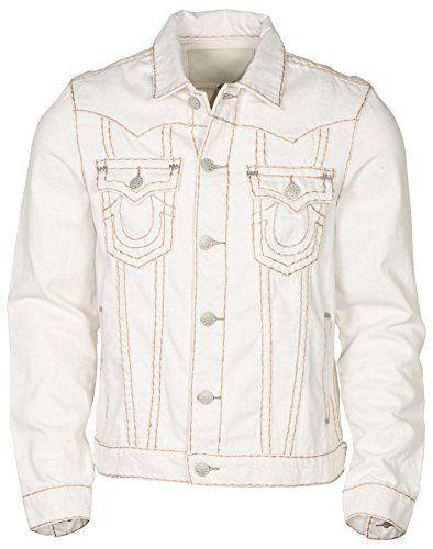 fc913c0891ccd $119.98 - True Religion Men's Jimmy Super T Denim Jacket-White Light