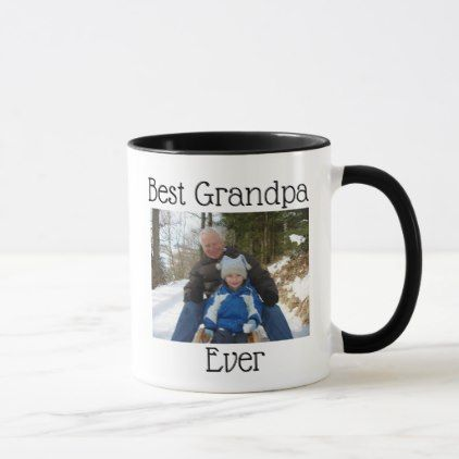 Best Grandpa Ever Photo Personalized Photo Mug - family gifts love personalize gift ideas diy