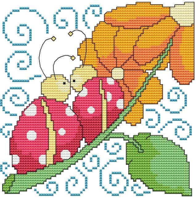 Cross Stitch Craze: Cross Stitch Ladybugs