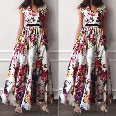 Women-Summer-Vintage-Boho-Long-Maxi-Evening-Party-Beach-Dress-Floral-Sundress