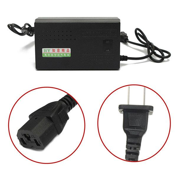 48V Electric Bike Motor Scooter Battery Charger Power Supply Adapter
