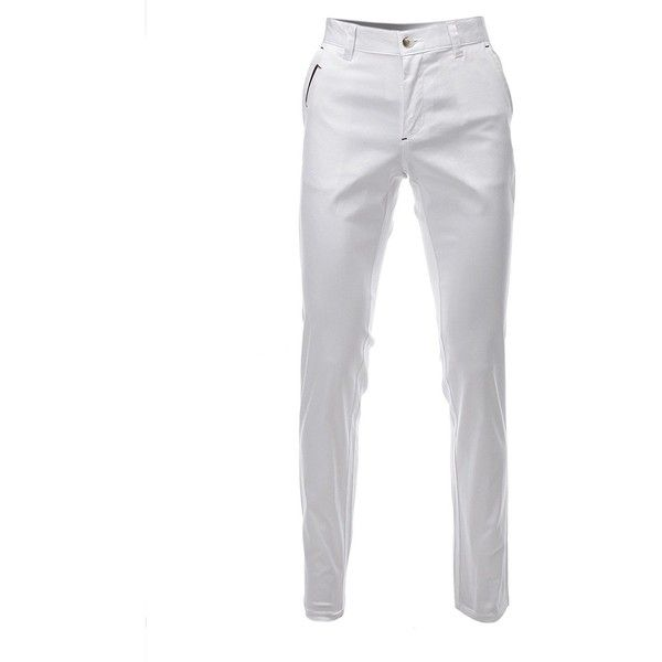 FLATSEVEN Mens Slim Fit Chino Pants Trouser Premium Cotton ($16) ❤ liked on Polyvore featuring men's fashion, men's clothing, men's pants, men's casual pants, mens slim pants, mens chinos pants, mens cotton pants, mens wide leg pants and mens chino pants