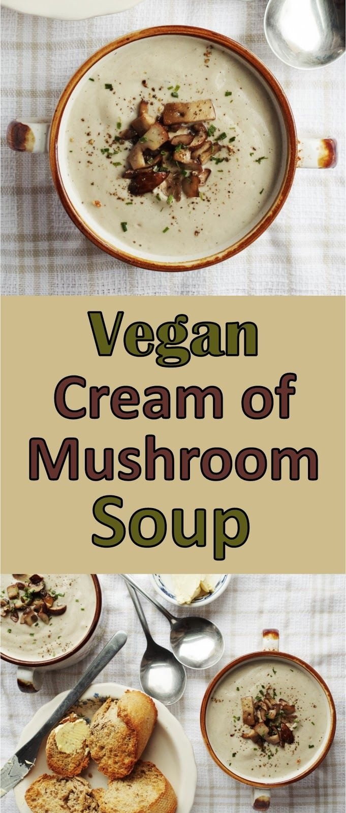 Cream of Mushroom Soup |Euphoric Vegan
