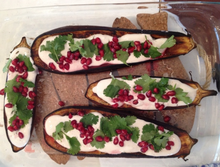 Aubergines inspired by Otto Lenghi's Plenty