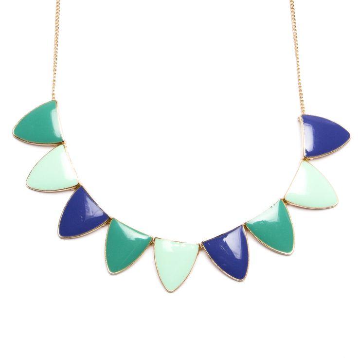 Korte halsketting met driehoekjes - Veritas