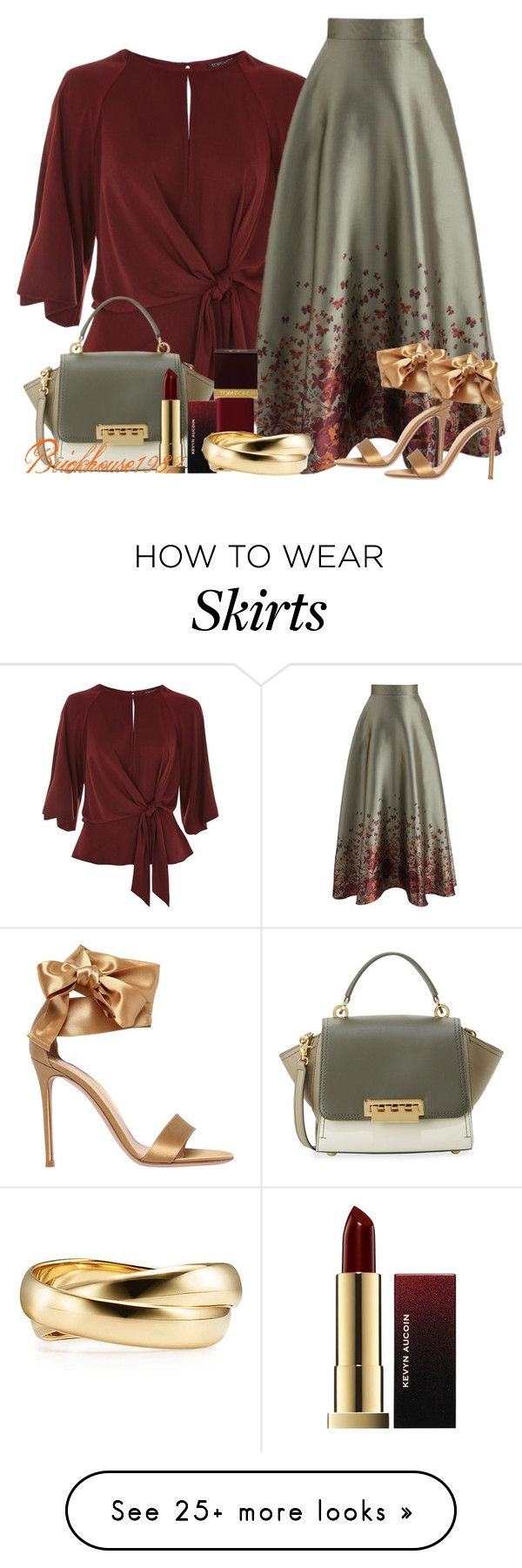 """""""Butterfly Wonderland Skirt"""" by brickhouse1982 on Polyvore featuring Topshop, Chicwish, ZAC Zac Posen, Tom Ford, Kevyn Aucoin and Gianvito Rossi"""