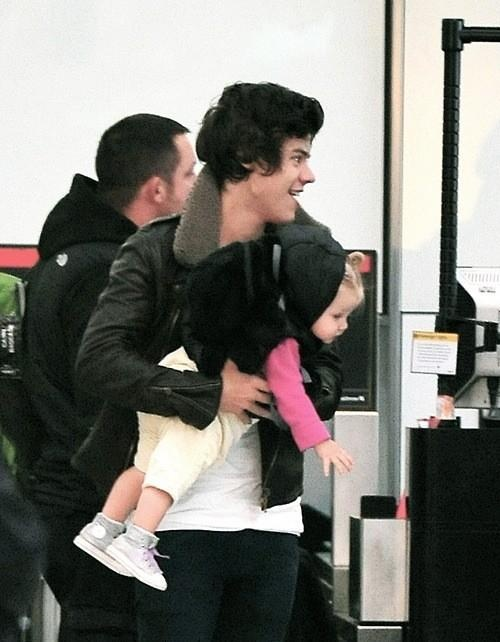 Harry with Baby Lux today!