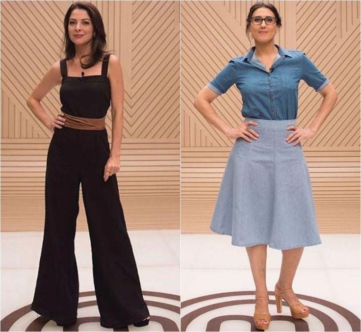 Ana Paula Padrão e Paola Carosella capricham no look para segundo episódio do 'Masterchef'