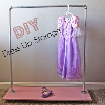 a little of this, a little of that: DIY {Industrial} Dress Up Storage