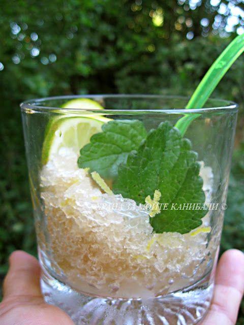 Храна за мойте канибали: Сорбе от лофант с мед лимон
