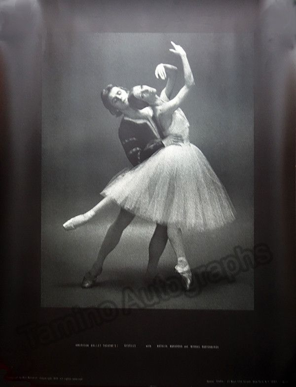 Baryshnikov, Mikhail - Group of 4 Ballet Posters - Photo Series by Max | Tamino Autographs
