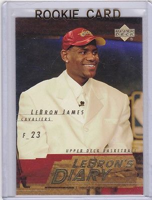 cool LeBRON JAMES 200304 Insert RC Basketball ROOKIE CARD #1 Draft Day NBA PICK! - For Sale View more at http://shipperscentral.com/wp/product/lebron-james-200304-insert-rc-basketball-rookie-card-1-draft-day-nba-pick-for-sale/