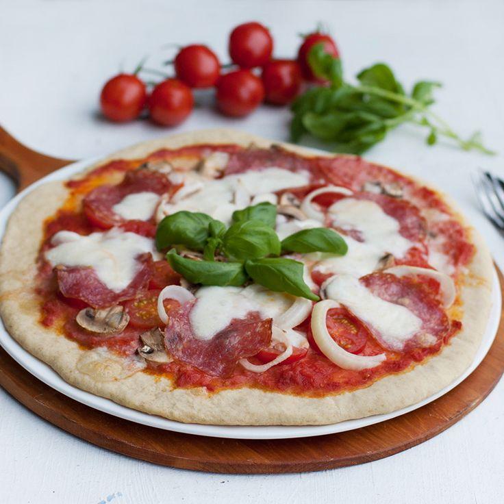 Pizza på bakpulver är alldeles utmärkt gott!