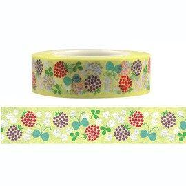Berry & Flower Washi Fun Tape (15M) on Etsy, $3.48 CAD