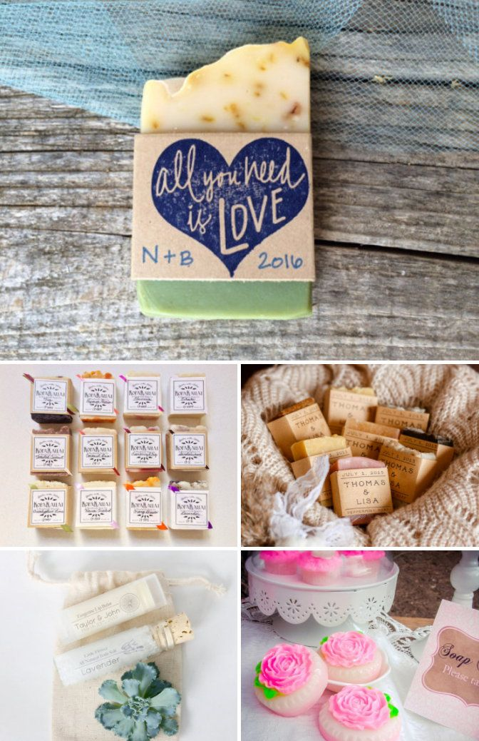 Whether you buy or DIY, soap wedding favors are a great choice for your guests because everyone can use them! Get inspired now with these wedding ideas!