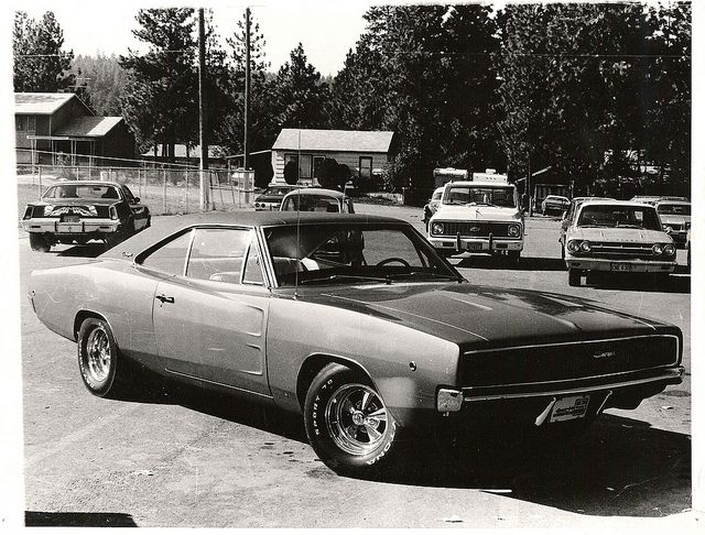 1968 Dodge Charger R/T | Scott Crawford- School's Out - 1977 A vintage pic of the Charger taken in 1977 after high school in the University High School parking lot