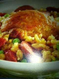 Easy crockpot recipes: Spanish Paella with Chicken and Sausage Crockpot Recipe