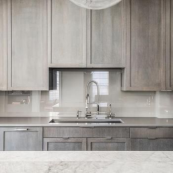 Gray, Contemporary, Kitchen
