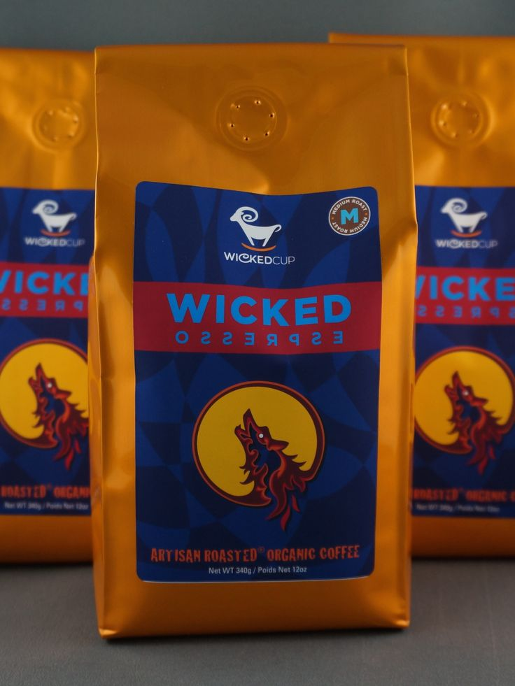 The wicked espresso one of the many featured #OrganicCoffee's by #WickedCup!