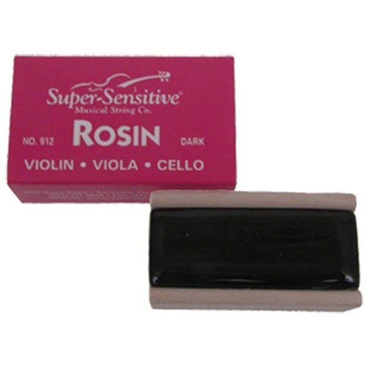 Super Sensitive Dark Best Violin Rosin Viola Cello Natural Finished Wood Box  #SuperSensitive