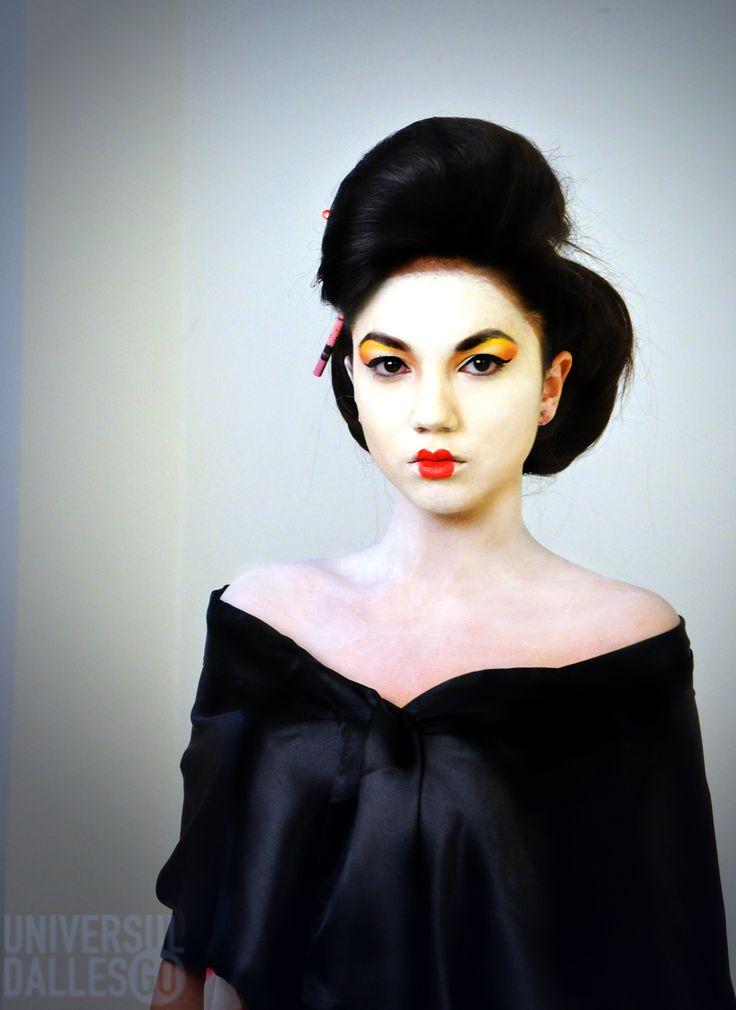 Hairstyle : Andreea Aca  MUA: Irina Cajvaneanu  Photo: Jon Lixandra  #makeup #geisha #geishamakeup #hairstyling