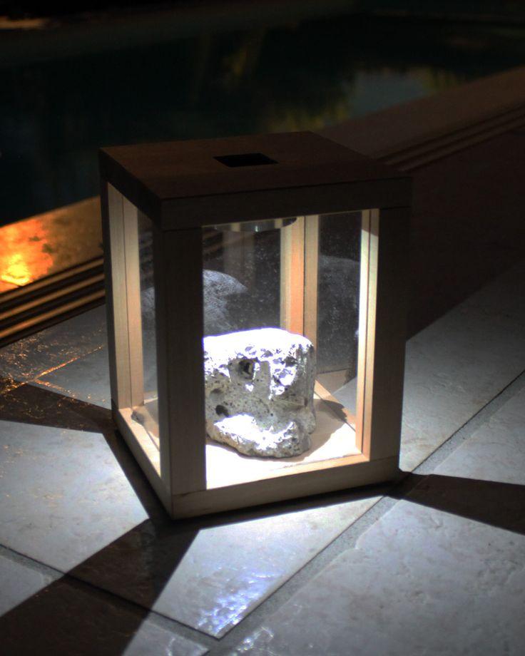 Tolle Stimmung im Garten mit dieser Solarleuchte aus Holz (Solarlaterne, Solarlampe)