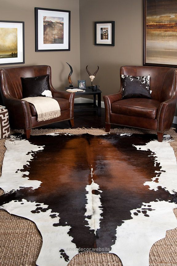 Cow skin rug with jute. I have this cowhide bought from ...