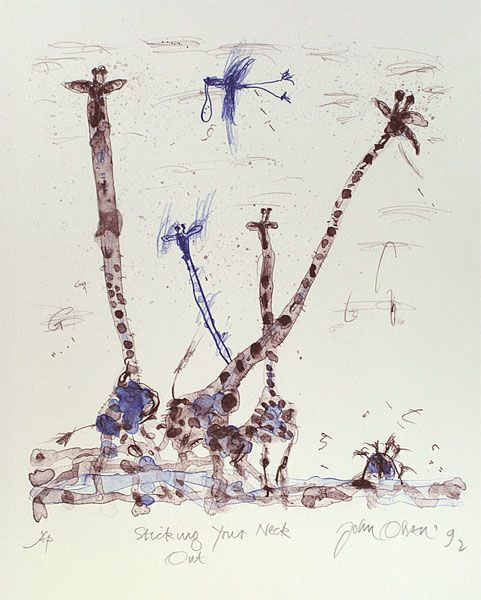 """John Olsen """"sticking your neck out"""" - awesome!"""