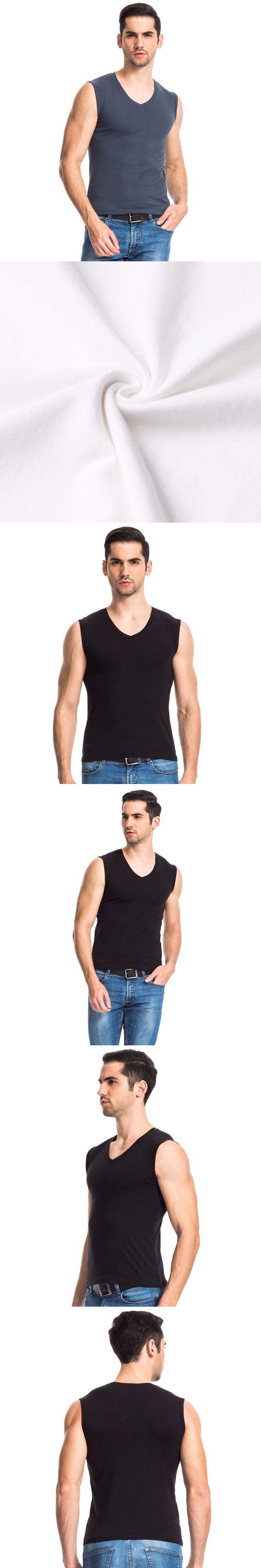 THREEGUN Men's Cotton Tee Bodybuilding tank tops for Muscular Sleeveless Shirts Fitness Male Sexy Vest Casual Tank Tops Lycra
