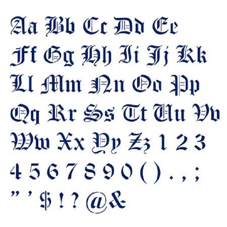 Symbols in english writing