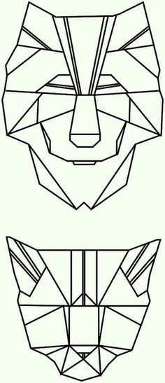 geometric cat face - Google Search