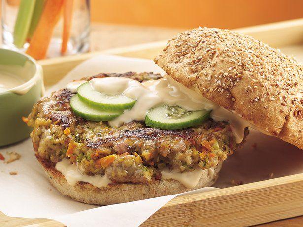 Teriyaki Veggie-Pork Burgers - recipe includes teriyaki veggies, panko ...