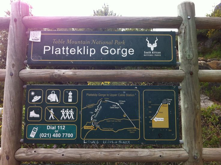 Platterklip gorge hike to top of table mountain. 1.5hrs with my boys (7 & 11 yrs). Take warm clothes & water