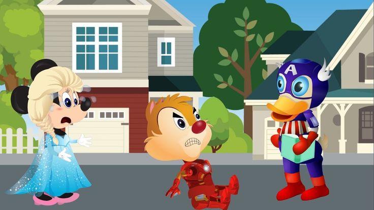 Mickey Mouse elsa Chip and Dale Pato donald y las ardillas Dibujos Anini...