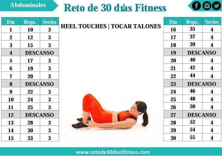 Heel Touches o Toque al talón es un excelente ejercicio para trabajar tus músculos abdominales en especial los laterales.  Si eres princi...