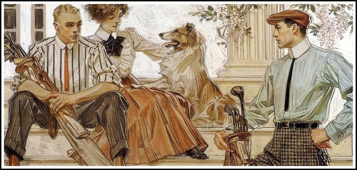 JC Leyendecker. of course - beautiful Collie too!